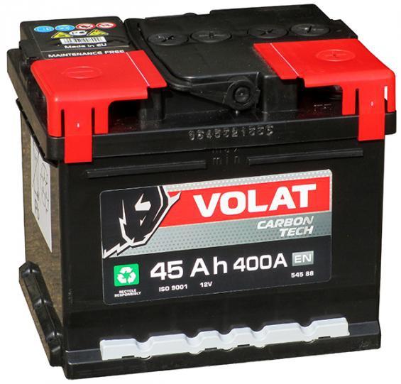 Аккумулятор автомобильный 45 Аh VOLAT