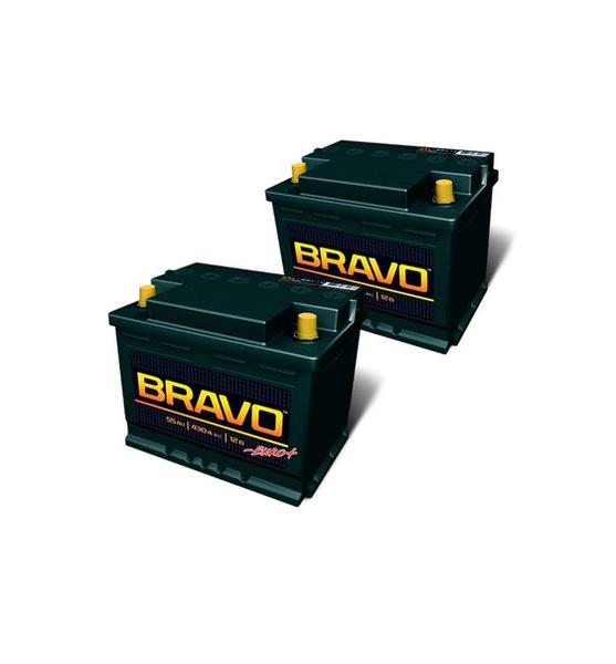 Аккумулятор автомобильный BRAVO 6СТ-55  Евро