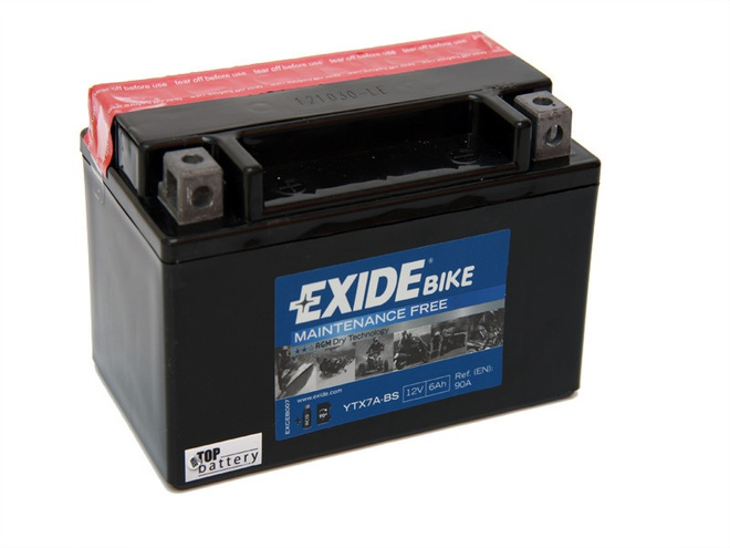 Аккумулятор для мотоциклов Exide YTZ7-BS 6Ah