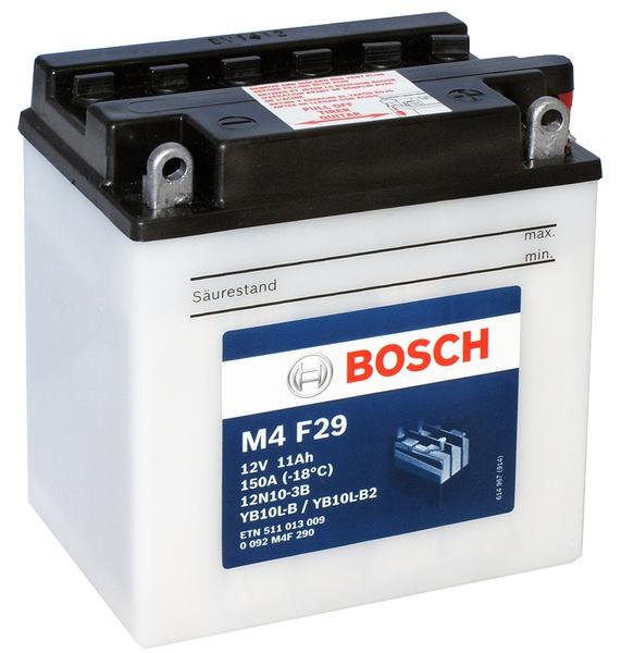 Аккумулятор для мотоциклов Bosch YB10L-B2/YB10L-B/12N10-3B 11Ah