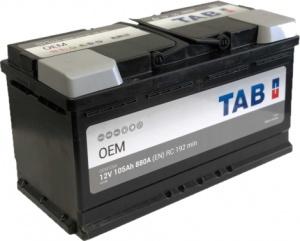 Аккумулятор автомобильный Tab OEM 105 R