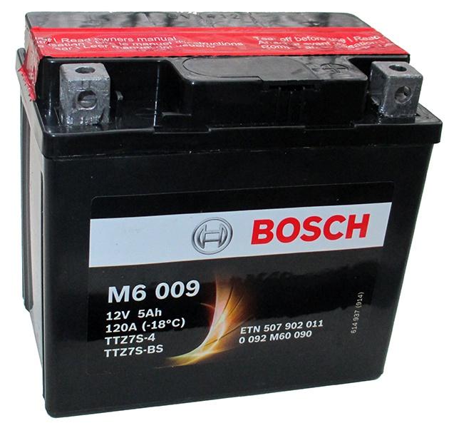 Аккумулятор для мотоциклов Bosch YB12A-А / 12N12A-4A-1 12Ah