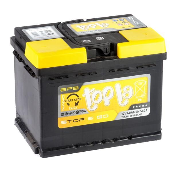 Аккумулятор автомобильный 60 Topla EFB STOP&GO