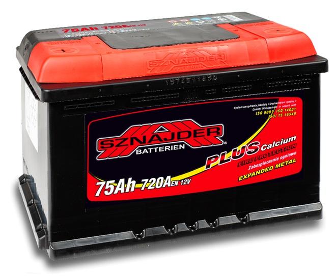 Аккумулятор автомобильный Sznajder Plus 75 L