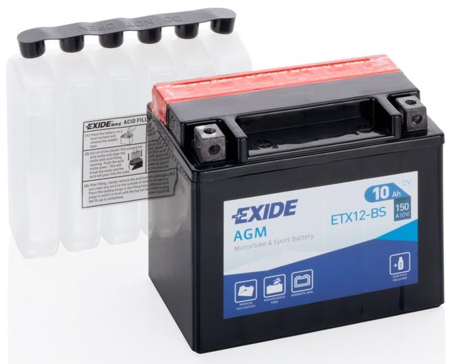 Аккумулятор для мотоциклов Exide MC AGM 10 Ah