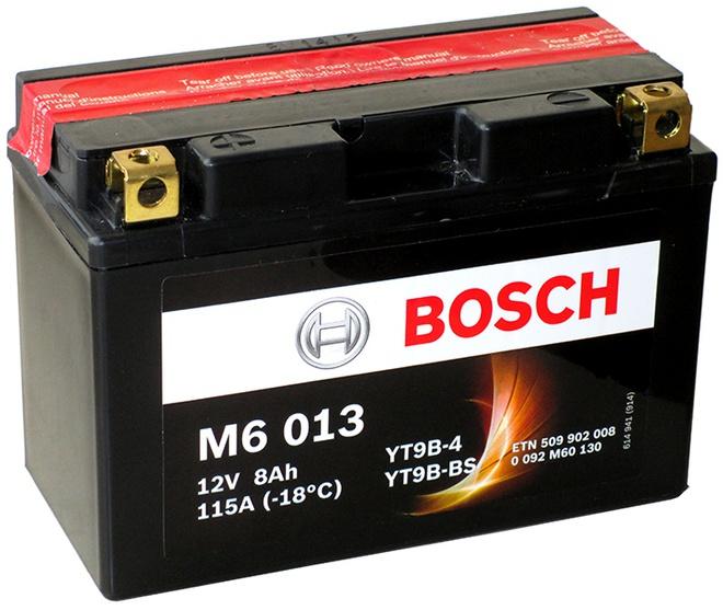 Аккумулятор для мотоциклов Bosch YT9B-BS / YT9B-4 8Ah