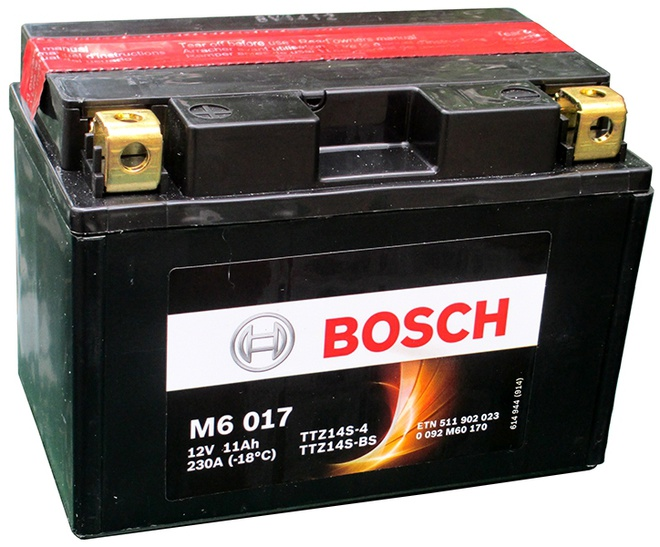 Аккумулятор для мотоциклов Bosch YTZ14S-BS / YTZ14S-4 11Ah