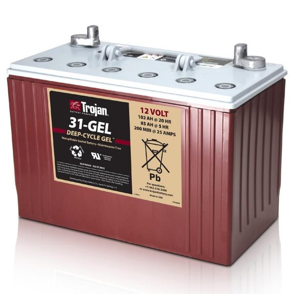 Лодочный аккумулятор Trojan 31-GEL 12V 102Ah