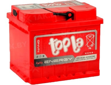 Аккумулятор автомобильный 45 TOPLA Energy L+