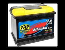 Аккумулятор автомобильный 55 Ah ZAP PLUS