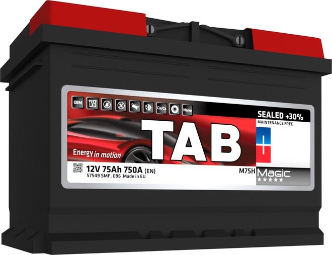 Аккумулятор автомобильный Tab Magic 62 R