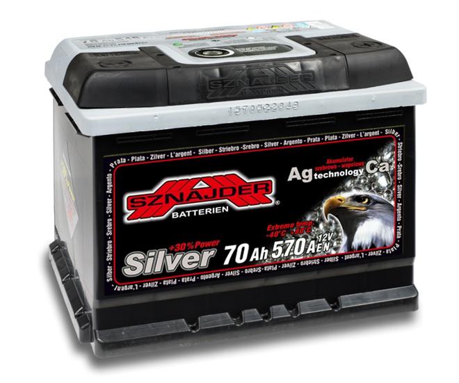 Аккумулятор автомобильный Sznajder Silver [magic eye] 70 R