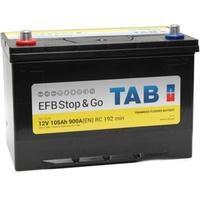 Аккумулятор автомобильный Tab Stop&Go Asia EFB 105 JL