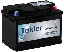 Аккумулятор автомобильный TOKLER UNIVERSAL 75 R