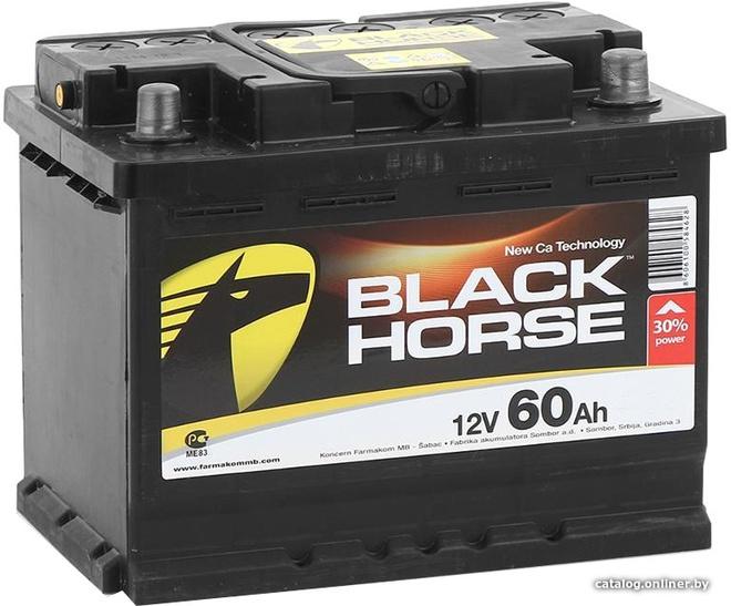 Аккумулятор автомобильный Black Horse 60 R