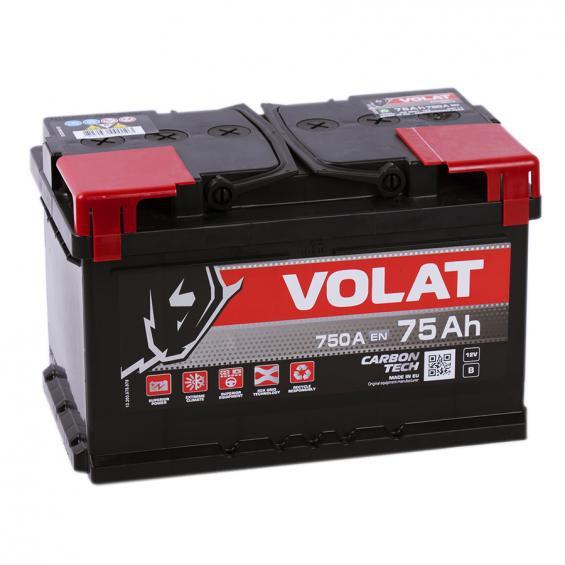 Аккумулятор автомобильный 75  Аh   VOLAT низ.