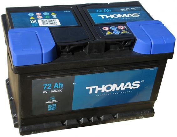 Аккумулятор автомобильный 72 Ah THOMAS низкий