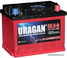 Аккумулятор автомобильный URAGAN 55 R+