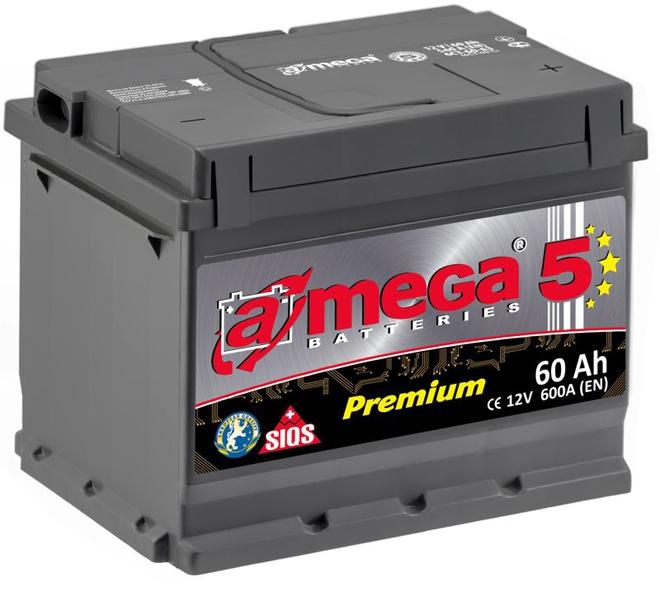 Аккумулятор автомобильный A-mega Premium 60 R