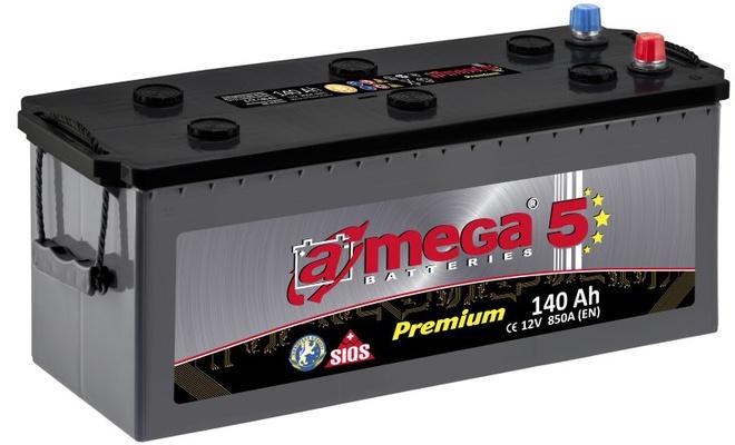 Грузовой аккумулятор A-mega Premium 140